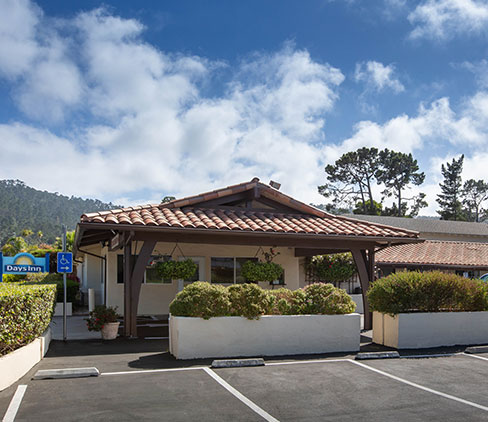 Location of Days Inn Monterey Fisherman's Wharf Hotel